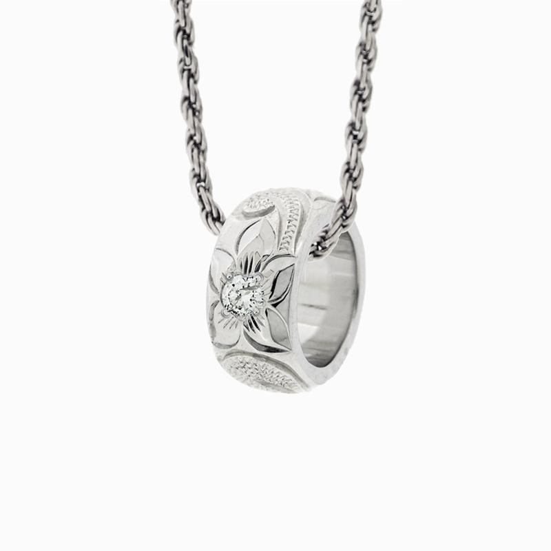 [SV925]ベビーリング カマレイ  誕生石 /永遠の波プアナニ&プルメリア