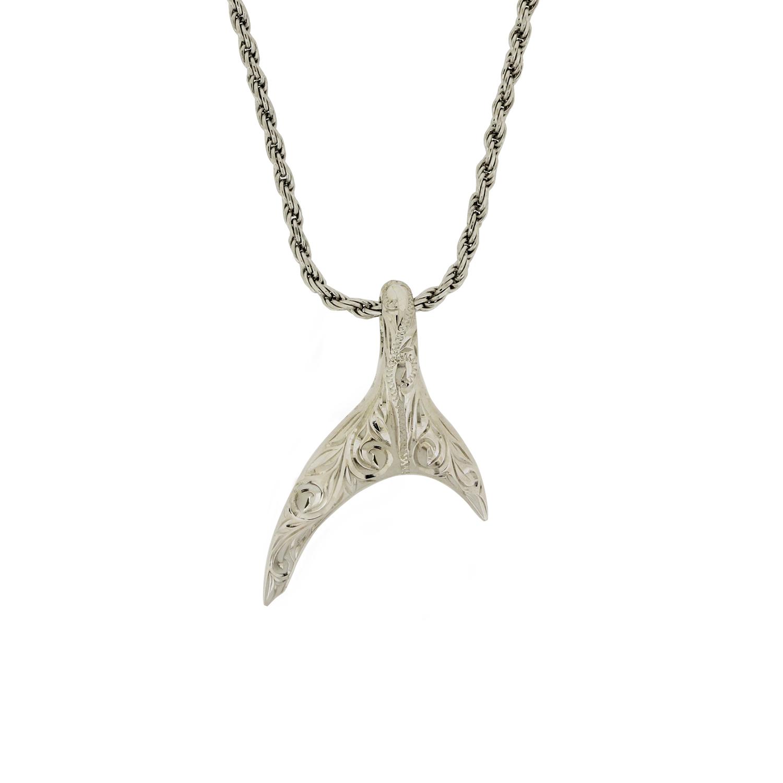 ハワイアンジュエリー[SV925] ≪守護霊サメ≫ マノー ペンダントヘッド 片面彫 1110100000189