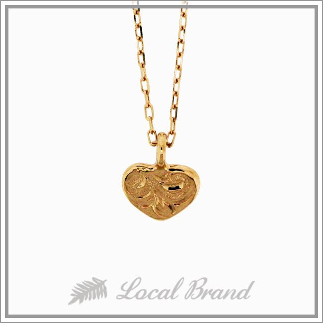 【プチプライス】ミリミリ ハート K10 ピンクゴールド ネックレス ハワイアンジュエリー