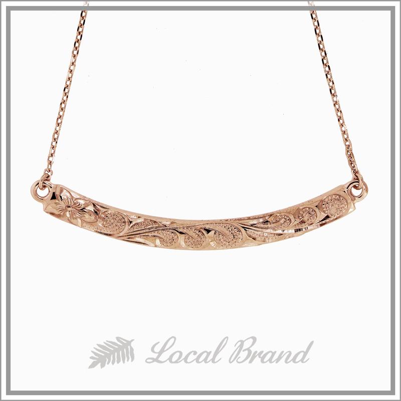 ハナレイ K14 ピンクゴールド ネックレス