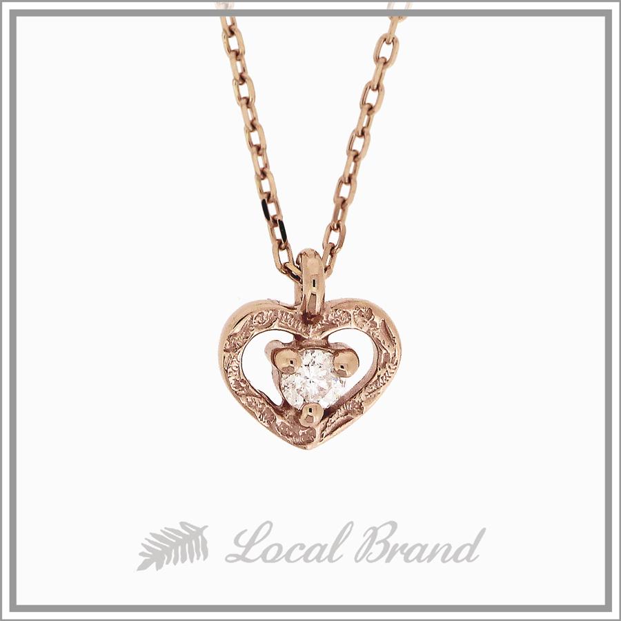 カイマナプーワイ  K14 ピンクゴールド ダイヤモンドネックレス