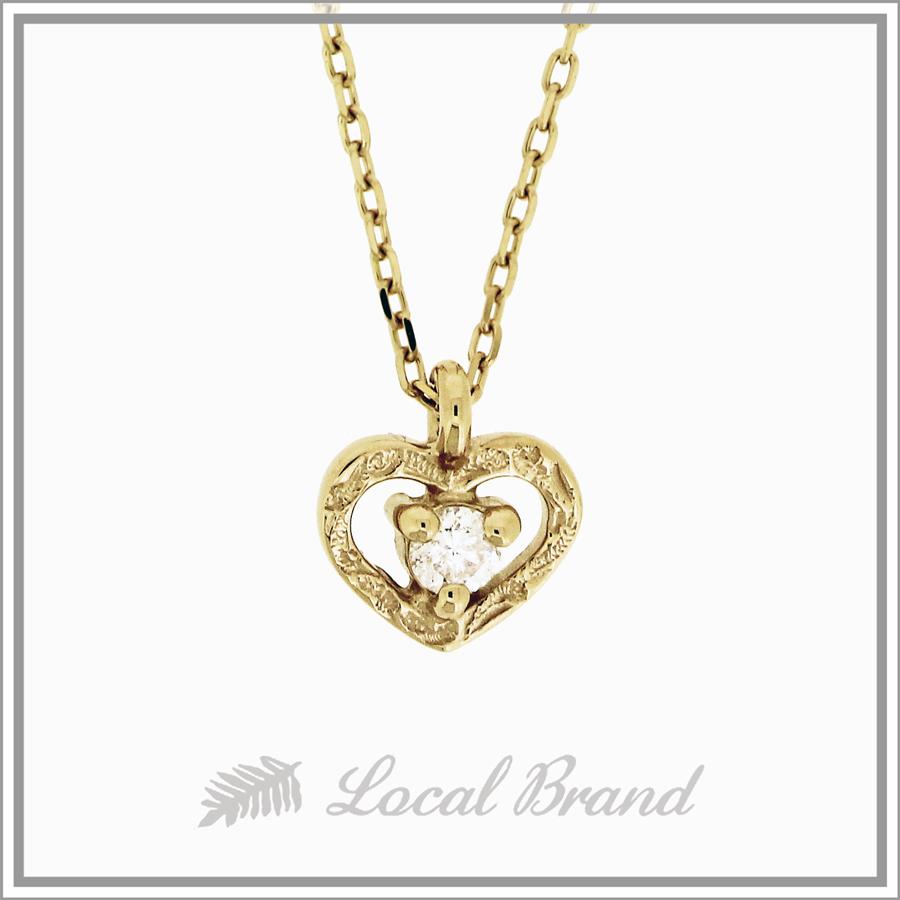 カイマナプーワイ  K14 イエローゴールド ダイヤモンドネックレス