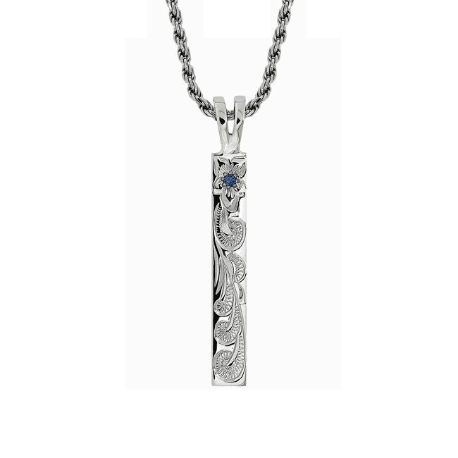 [SV925/ブルーダイヤ] ハナリマ420サイド彫り ペンダントヘッド