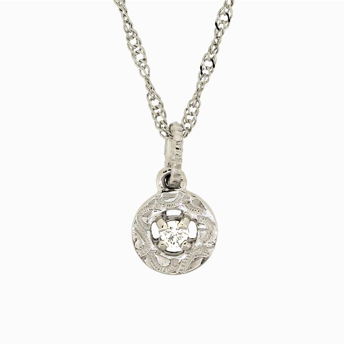 ハワイアンジュエリー[Pt950/ダイヤモンド]《楽園の輝き》アロヒラニ  ペンダントヘッド