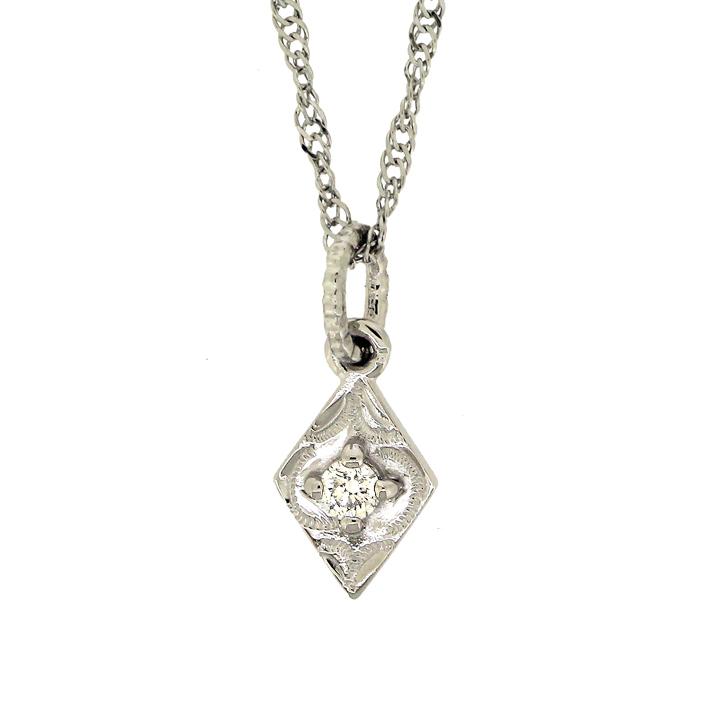 ハワイアンジュエリー[Pt950/ダイヤモンド] カイマナロゼンジ  ペンダントヘッド