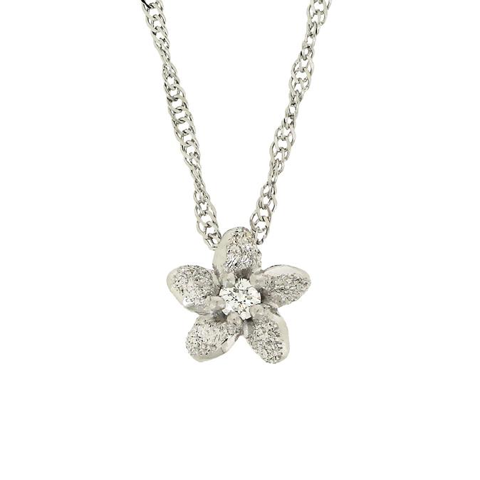 ハワイアンジュエリー[Pt950/ダイヤモンド] プルメリアダイヤ  ペンダントヘッド