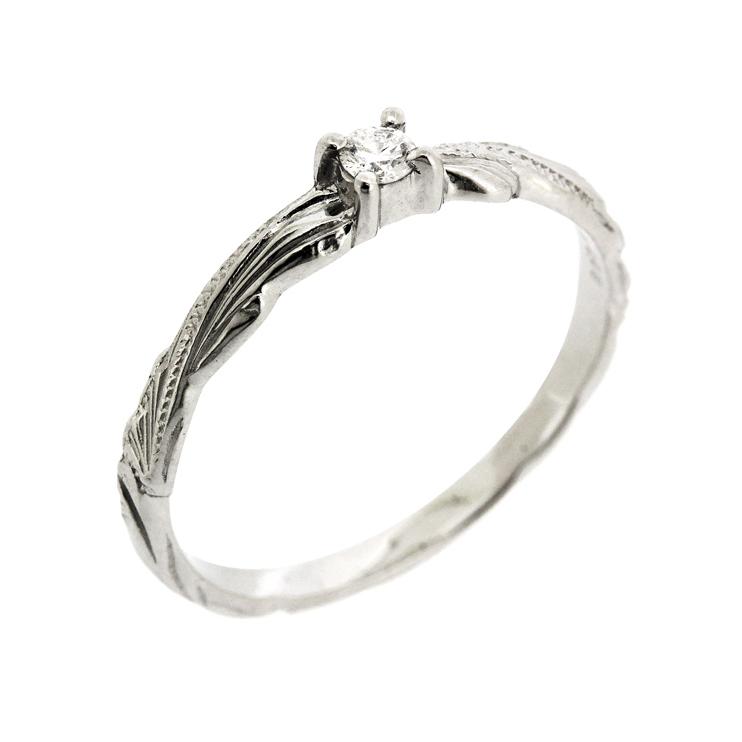 アロヒラニ ダイヤモンドリング プラチナ ハワイアン ジュエリー
